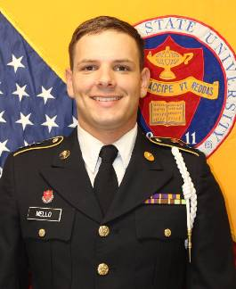 Cadet Battalion Administration Officer Mathew Mello